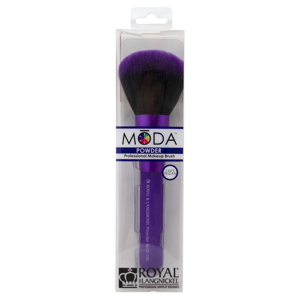 Retail package for the MODA Powder makeup brush