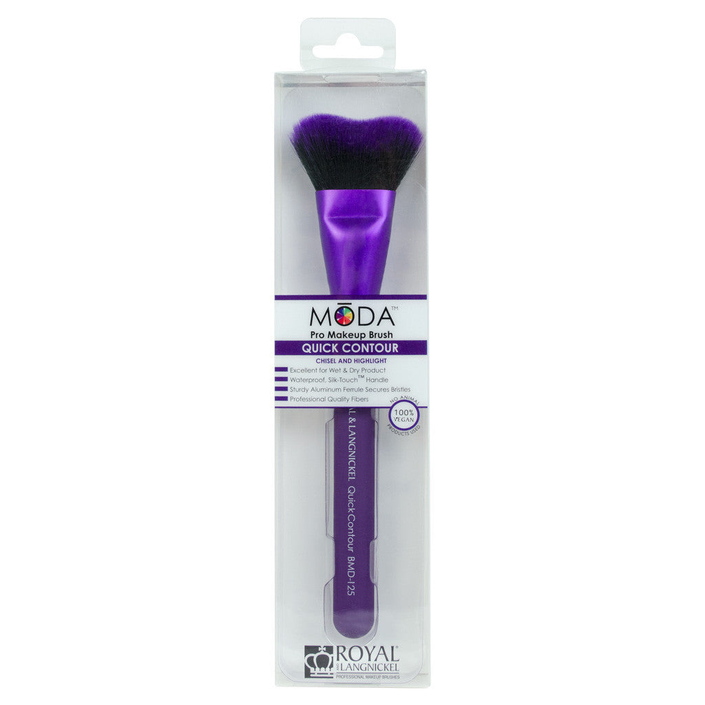 Retail package for the MODA Quick Contour makeup brush