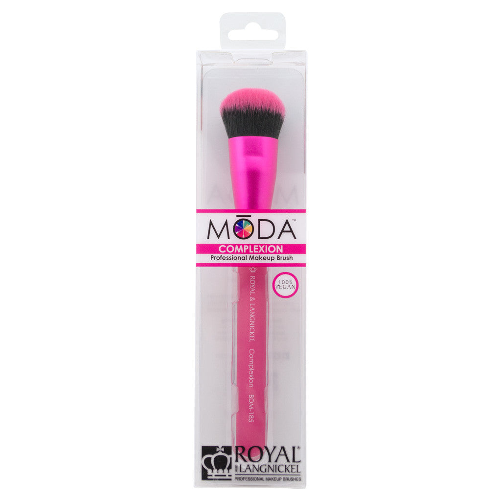 Retail package for the MODA Complexion makeup brush