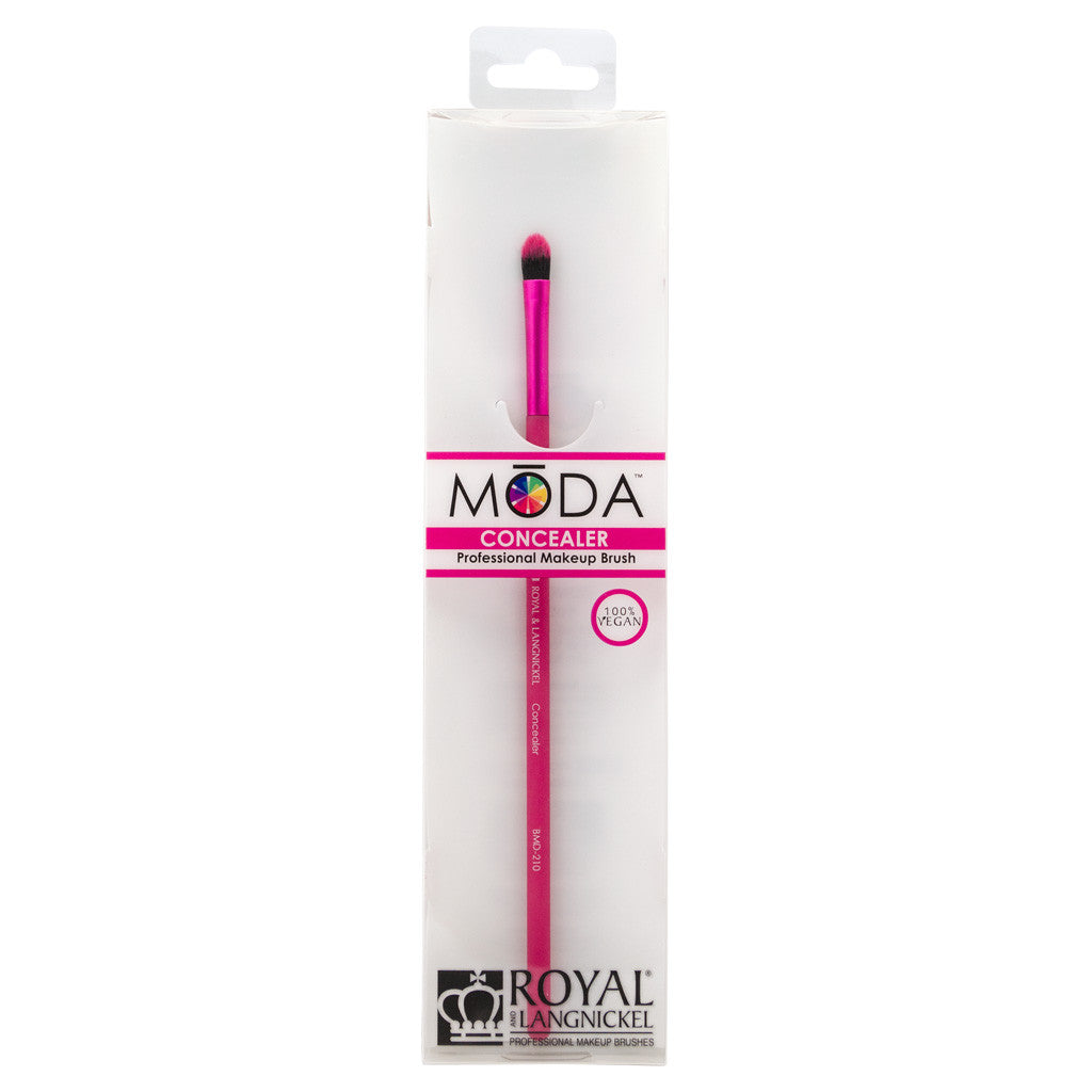 Retail package for the MODA Concealer makeup brush