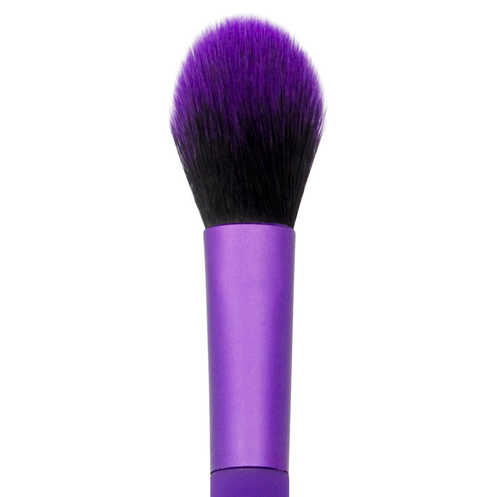 Close-up of hair and ferrule of MODA Highlight and Glow makeup brush