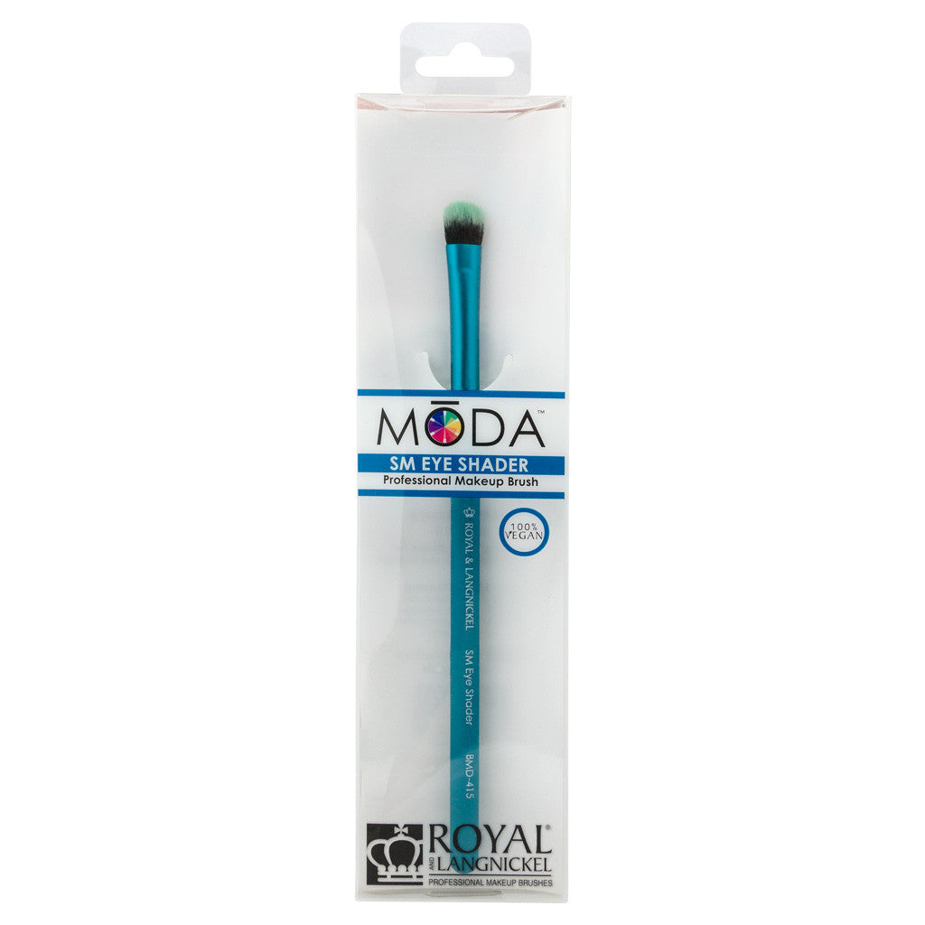 Retail package for the MODA Small Eye Shader makeup brush