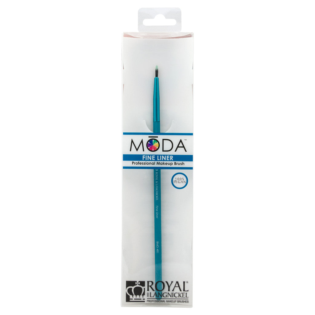 Retail package for the MODA Fine Liner makeup brush
