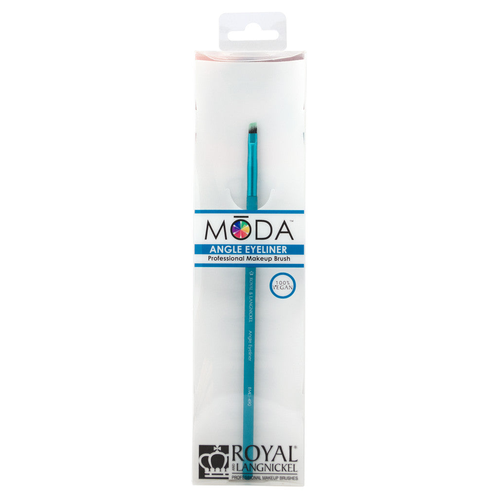 BMD-490 - MODA® Angle Liner Makeup Brush Retail Packaging