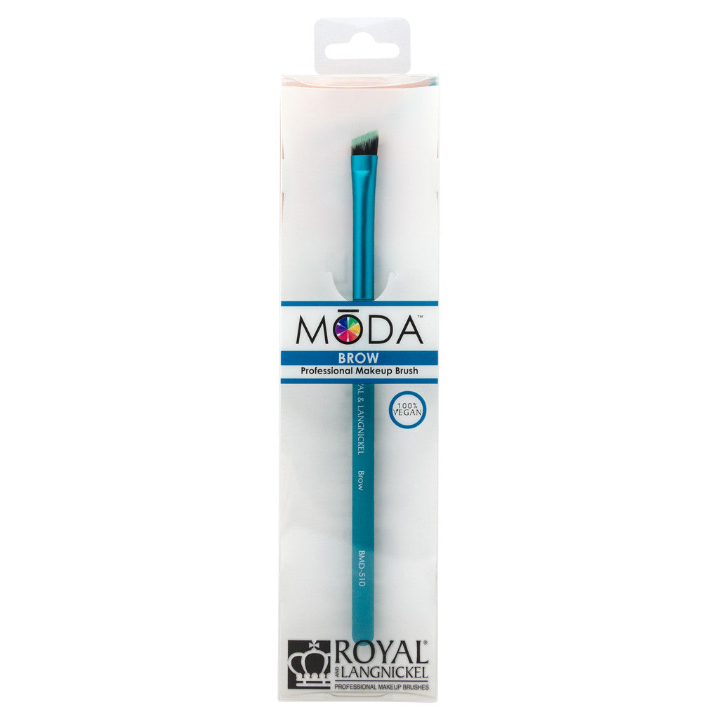 Retail package for the MODA Brow makeup brush