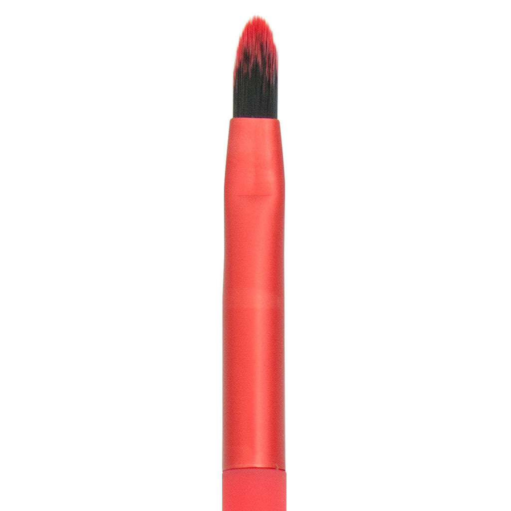 Close-up of hair and ferrule of MODA Precision Lip makeup brush