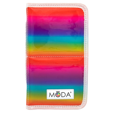 MŌDA® Rainbow Zip Flip Case