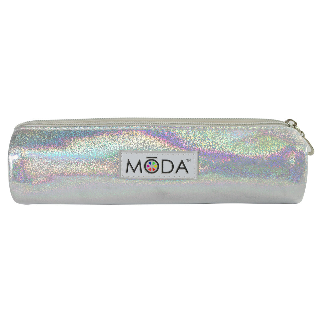 MODA® Holographic Zip Case included with BMD-PSEKIT5 - MODA® Prismatic 5pc Smoky Eye Kit