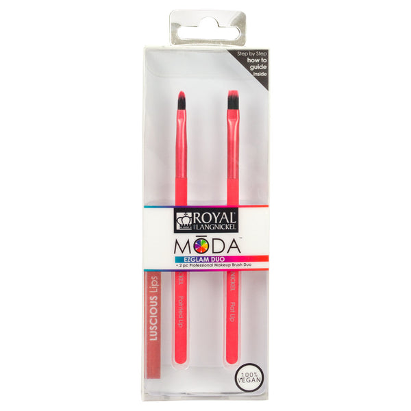 BMD-EGLL - MODA® EZglam Duo - Luscious Lips Makeup Brushes