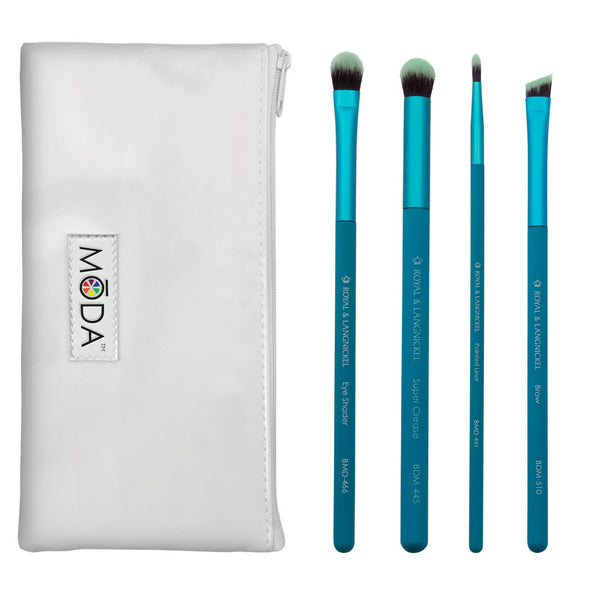 BMD-EK2 - MŌDA® 5pc Bold Eye Kit Makeup Brushes and Zip Pouch
