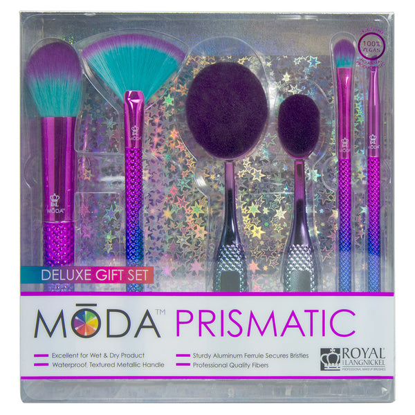 BMD-PGS2 - MODA® Prismatic 6pc Deluxe Gift Kit Makeup Brushes