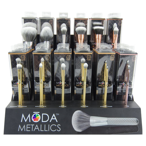 BMDM12-6 - MŌDA® Metallics 12 Brush Assortment Rack - 6 of Each