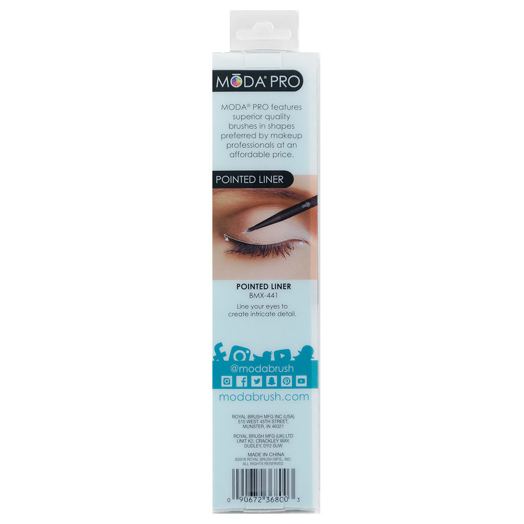 BMX-441 - MODA® Pro Pointed Liner Retail Packaging Back