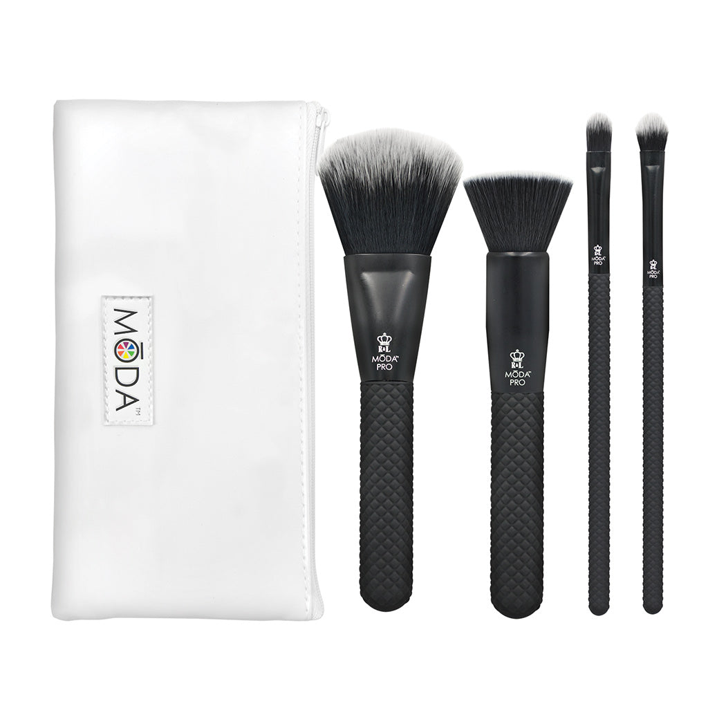 MŌDA® Pro 5pc Complete Kit BMX-CK5 - MODA® Pro 5pc Complete Kit Makeup Brushes with Zip Case