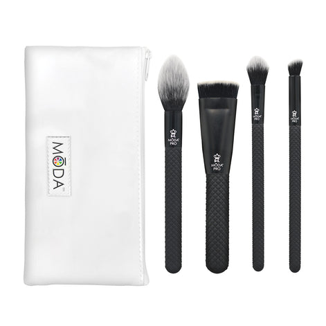 BMX-SGK5 - MODA® Pro 5pc Sculpt & Glow Kit Makeup Brushes with Zip Case