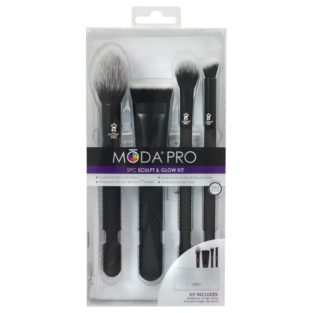 BMX-SGK5 - MODA® Pro 5pc Sculpt & Glow Kit Retail Packaging