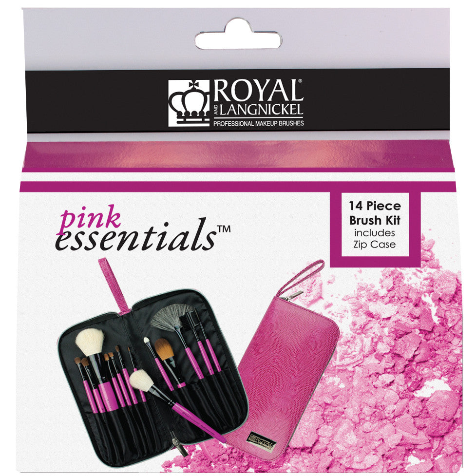 Pink Essentials™ Natural 13-piece Travel Kit retail packaging