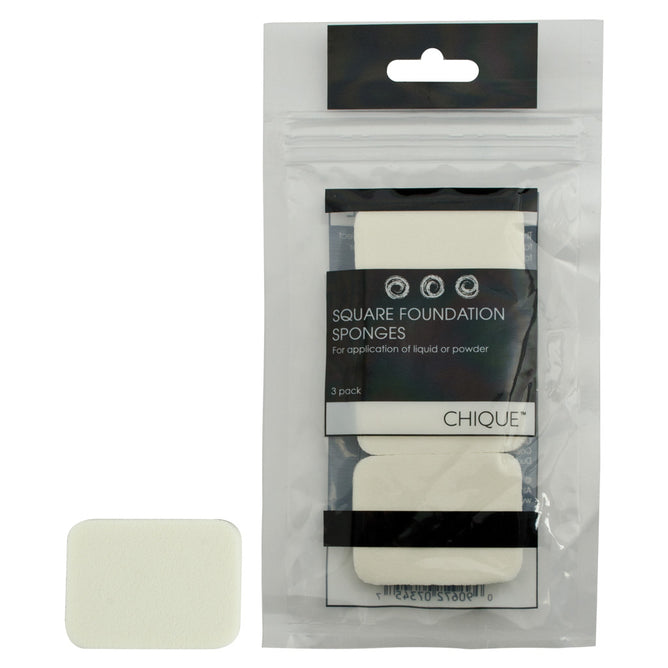 BQU-15 - Chique™ 3pc Square Foundation Sponges