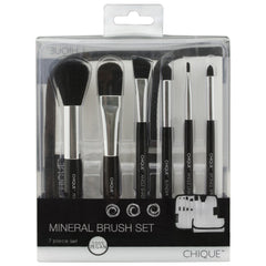 Chique™ 7pc Black Mineral Brush Set