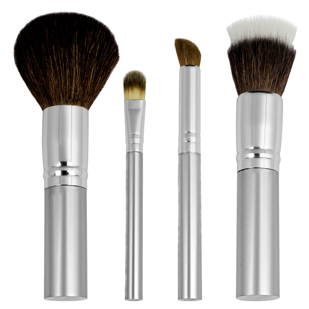 Chique™ Natural 4pc Mineral Set Makeup Brushes