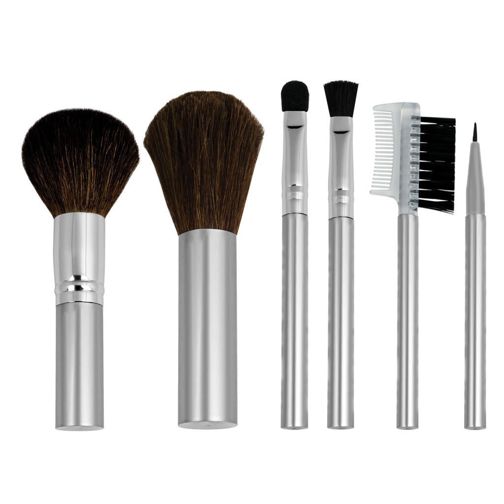 Chique™ Natural 6pc Travel Set Makeup Brushes