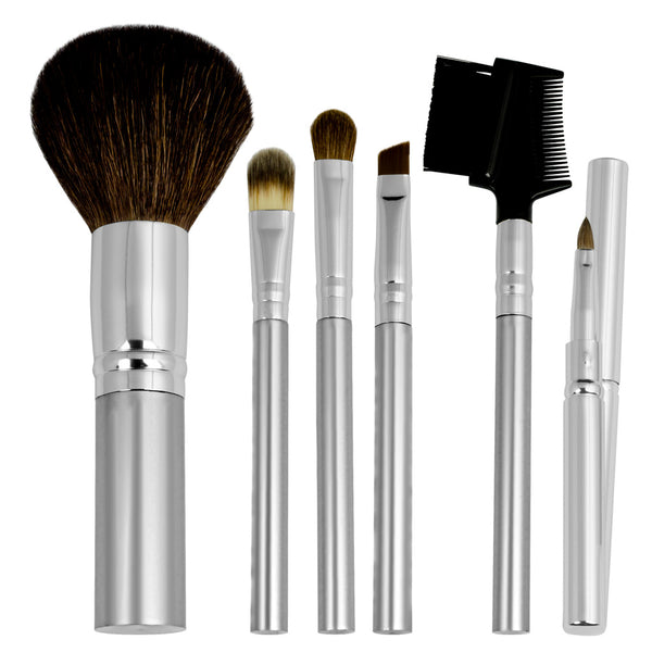 Chique™ Natural 6pc Everyday Set Makeup Brushes