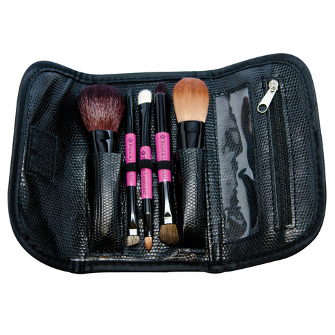 Makeup Brushes in Travel Case