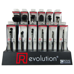 Revolution 12 Brush Assortment Rack - 6 of Each