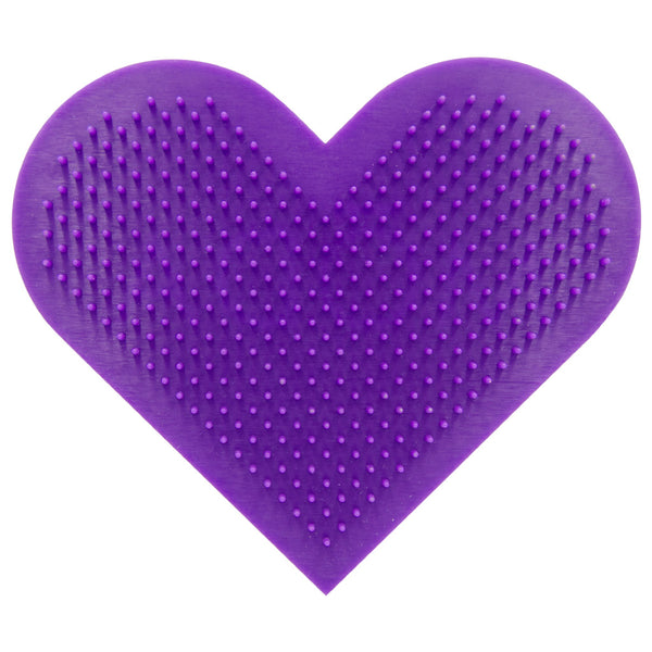 BMD-T01 - MODA® Heart Scrubby Makeup Brush Cleaning Pad Front