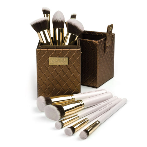 Makeup Brushes in Storage Box