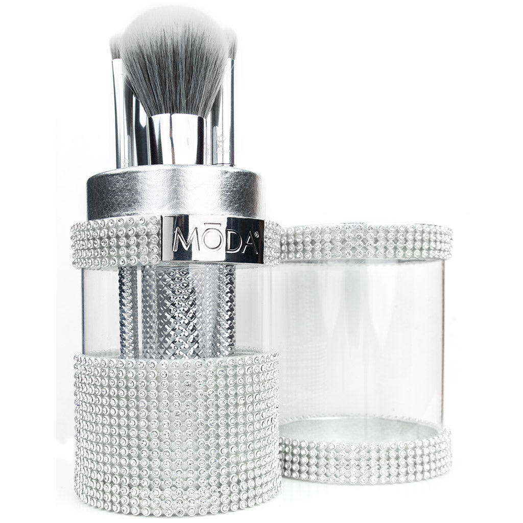 Makeup Brushes in Gem Brush Container