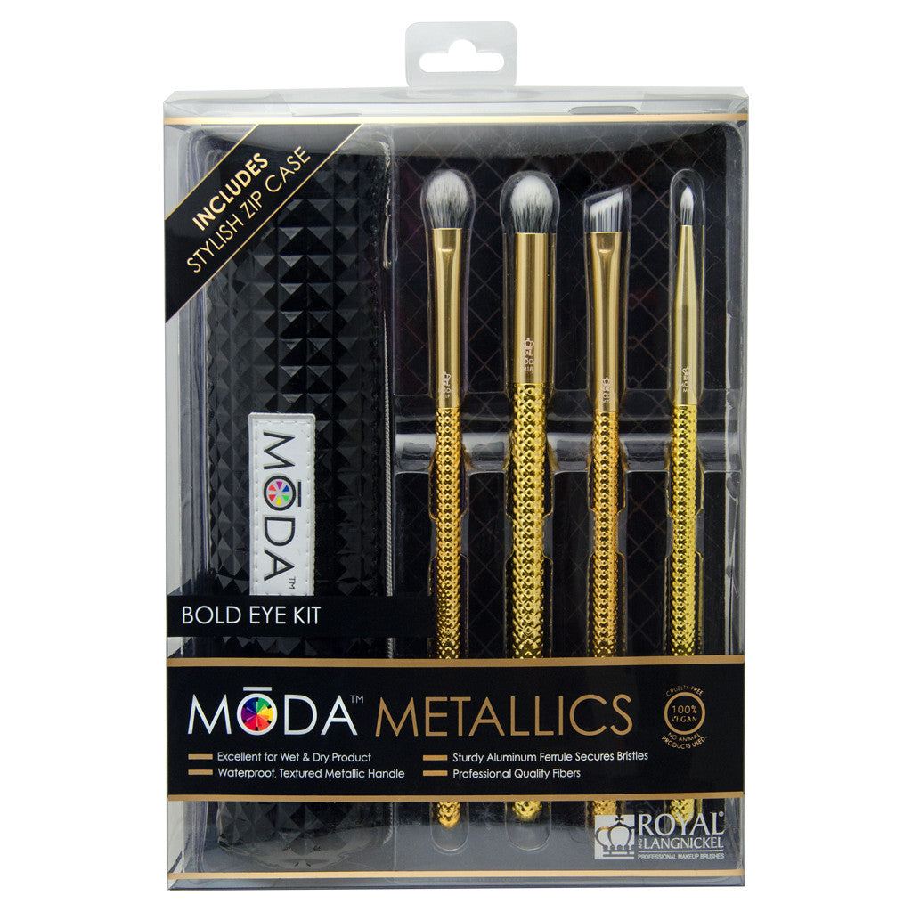 MSET-EK4 - MODA® Metallics 5pc Bold Eye Kit Retail Packaging