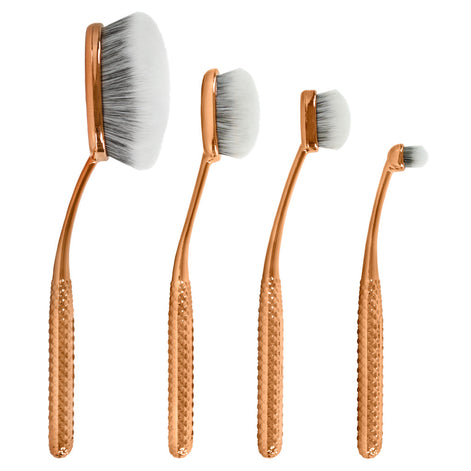 MSET-FPK2 - MODA® Metallics 4pc Face Perfecting Kit Makeup Brushes Side Profile