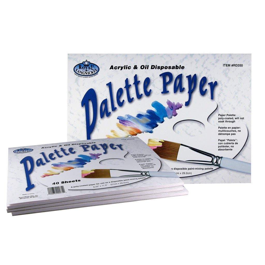 9x12 Palette Paper - 40 sheets used for acrylic and oil paints