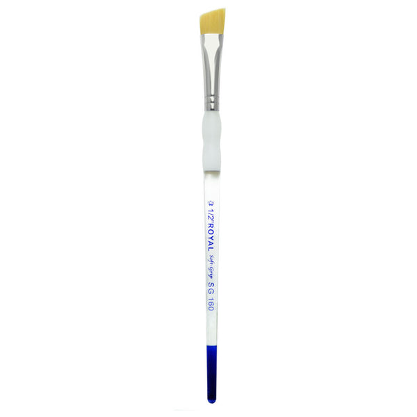 "Soft Grip Gold Synthetic Angular 1/2"" Body Art/FX Brush"