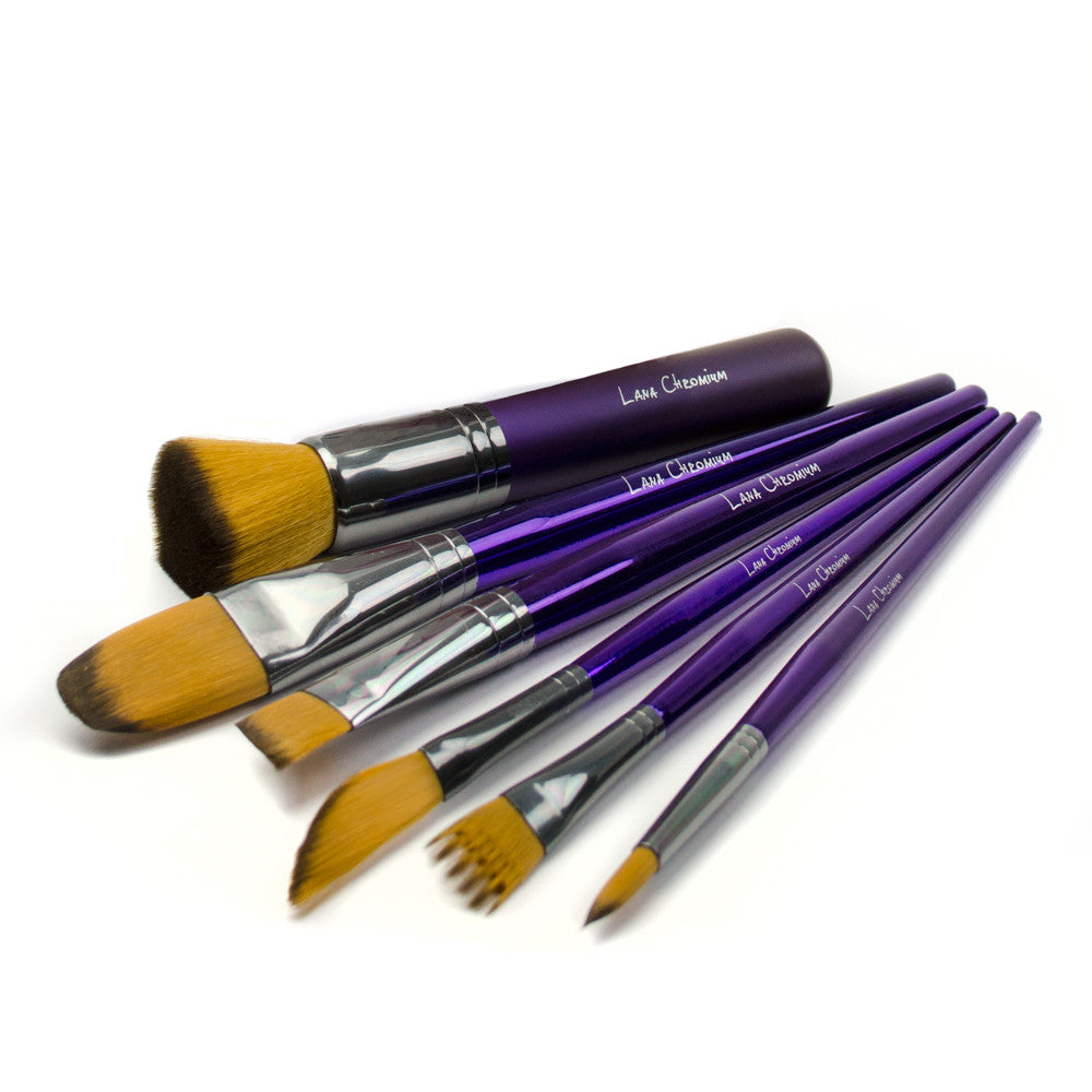 Lana Chromium Signature Brush Set Makeup Brushes Glam