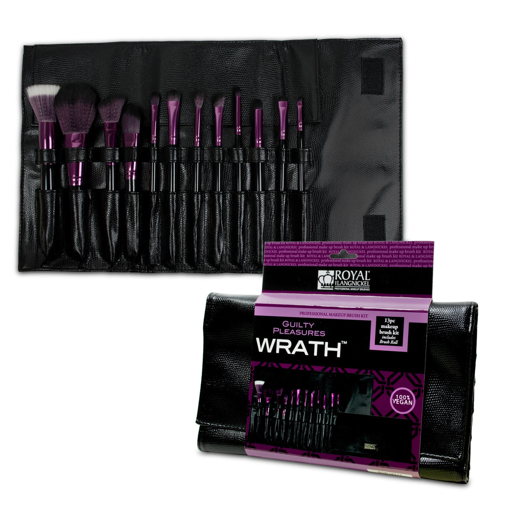Makeup Brushes in Brush Wrap and Retail Packaging