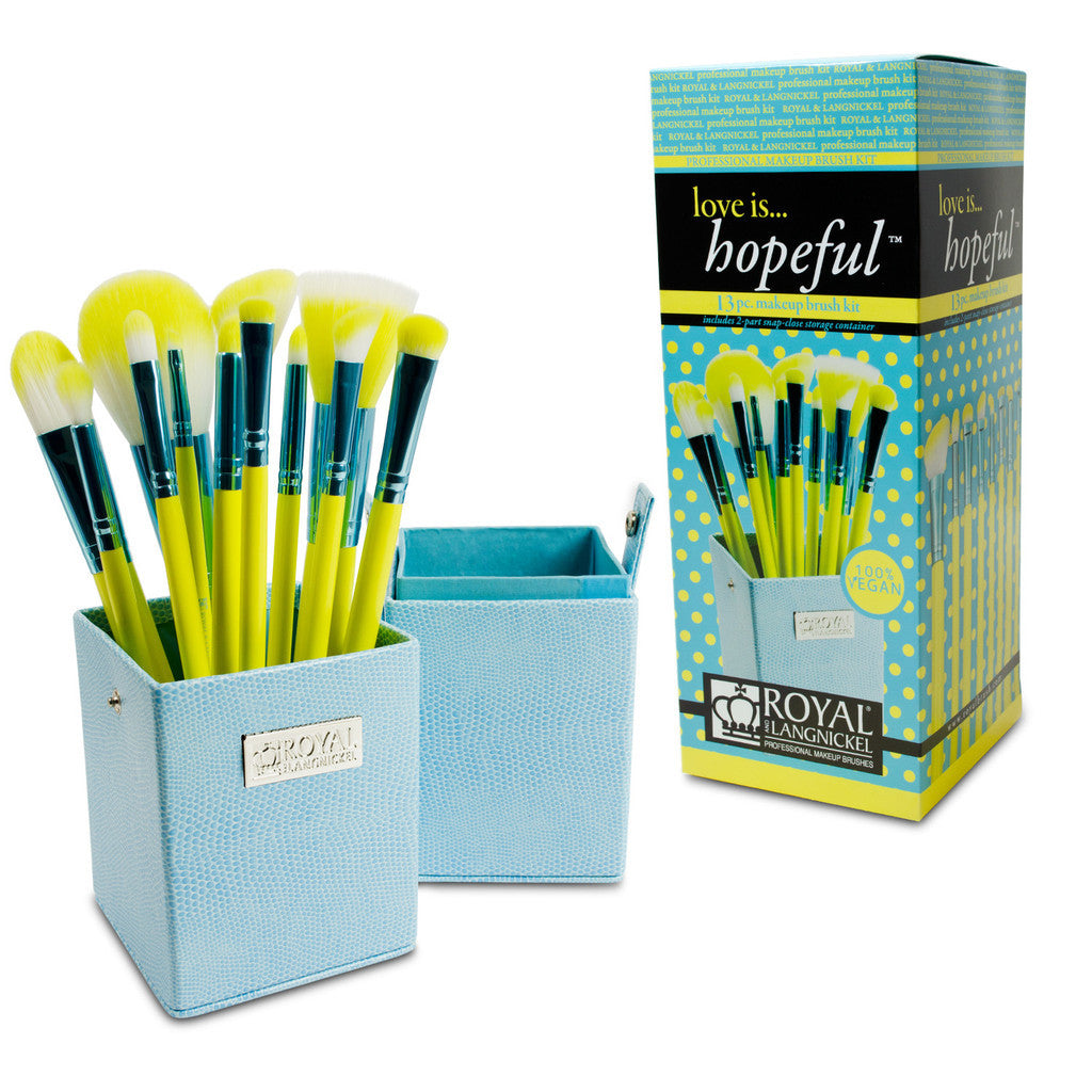 Love Is... Hopeful™ – 12-piece Brush Kit with retail packaging