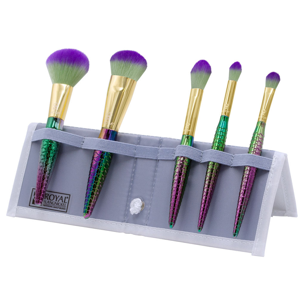 BMD-MSWSET6T - MODA® Mythical 6pc Sweet Siren Travel Kit Makeup Brushes in Flip Case
