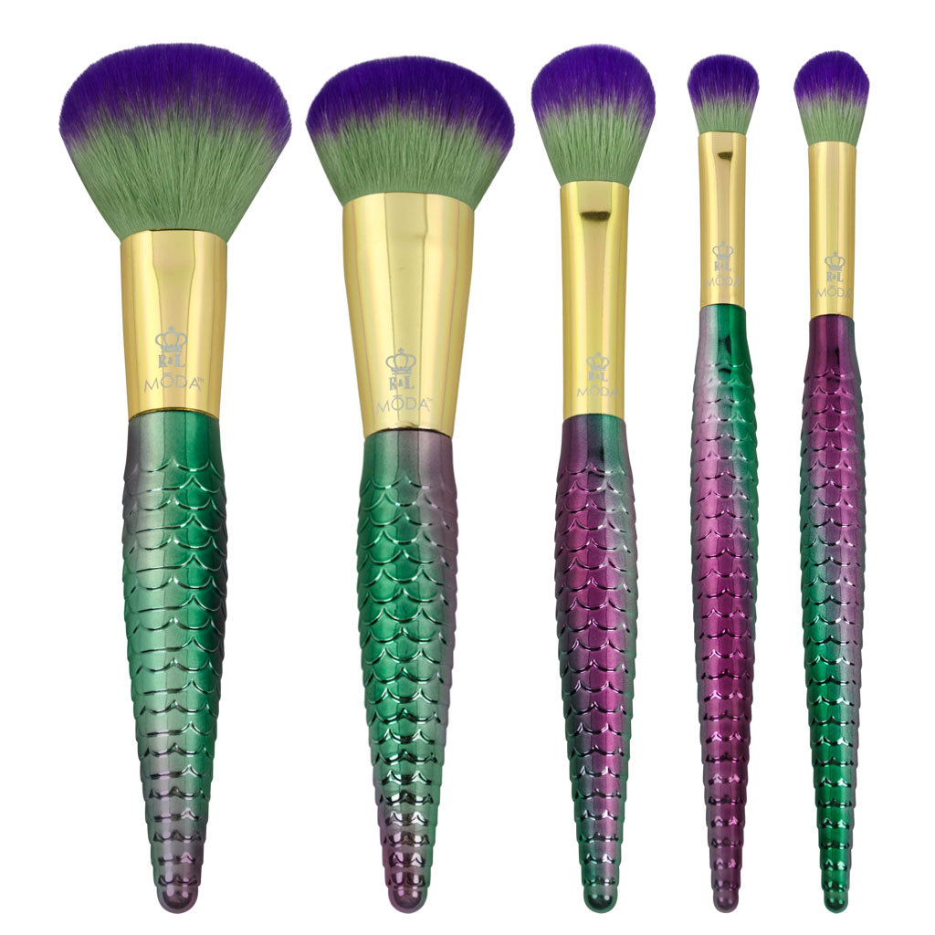 BMD-MSWSET6T - MODA® Mythical 6pc Sweet Siren Travel Kit Makeup Brushes