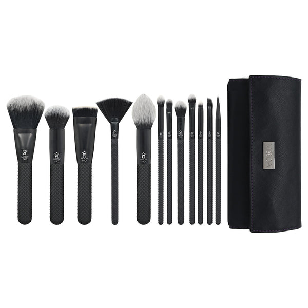 MŌDA® Pro 13pc Full Face Wrap Kit Makeup Brushes with Wrap