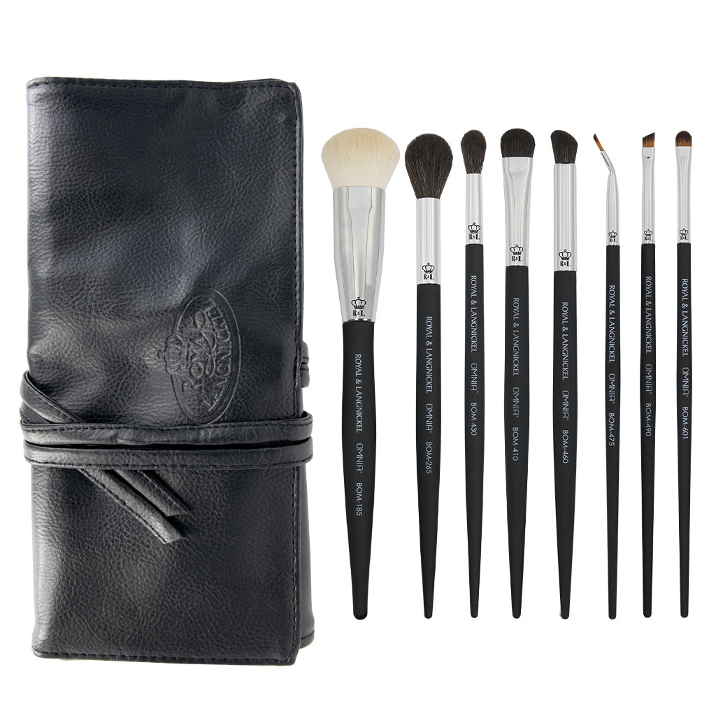 OMNIA® Artist Favorites - Derek Medina 9pc Bundle OMNIA® Artist Favorites - Derek Medina Makeup Brushes Bundle with included brush wrap
