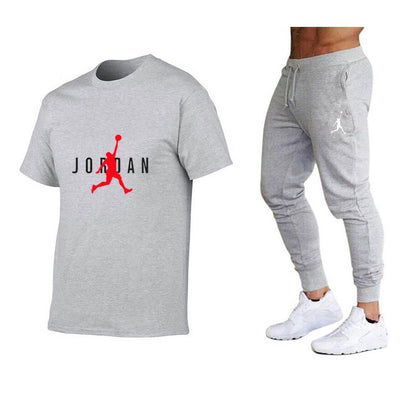 2021 Hot-Selling Summer T-Shirt Pants Set Casual Brand Fitness Jogger Pants T Shirt Hip Hop Fashion Men's Tracksuits