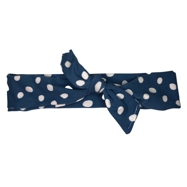 rosie bow band (blue)