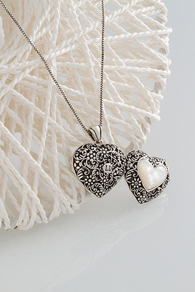 Pearl Heart Locket