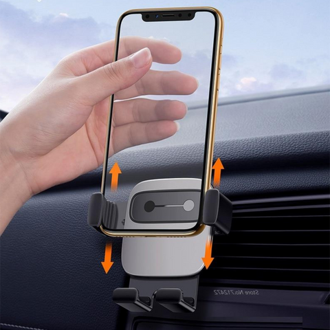 support telephone voiture aeration