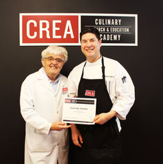 Chef Christopher A. Haydostian with Dr. Bruno Goussault