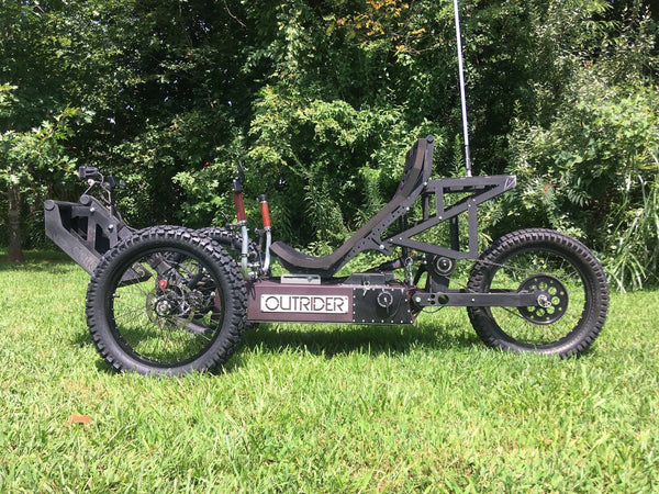 Outrider Horizon electric fat trike, electric sand trike, electric snow trike, etrike, moto trike, outrider tour, biltmore offroad outrider tour