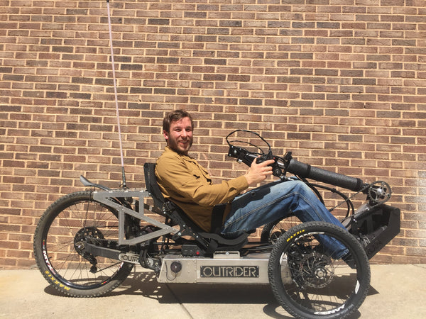 Outrider Horizon handcycle, hand cycle, electric handcycle, electric hand cycle, offroad, mtb, paraplegic ebike