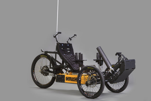 Outrider Horizon tri-pin, quadriplegic, quad, hand function, MS, ALS, cancer, bike, trike, mtb